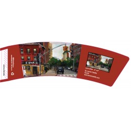 BriteVision Lyric Diner 12-20 oz Hot Cup Coffee Sleeve 1200/CS