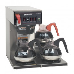 Bunn CWTF-DV Automatic 12 Cup Coffee Brewer with 3 Lower Warmers
