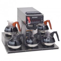 Bunn CRTF5-35 12 Cup Automatic Coffee Brewer with 5 Warmers 7.5 g/hr