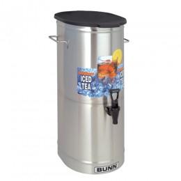 Bunn TDO-5 5 Gallon Iced Tea Dispenser with Solid Plastic Lid