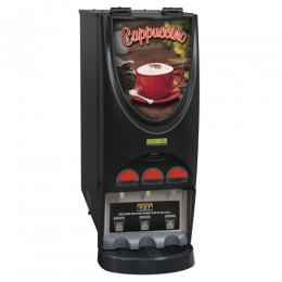 Bunn iMIX-3 BLK Powdered Hot Beverage Dispenser 3 Hoppers and Top