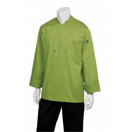 Chef Works 2833LIM2XL Genova Lime Chef's Coat 2XL