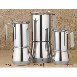 European Gift 122-6 Stainless Steel Stove Top Espresso Maker 6-Cup