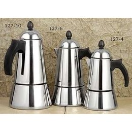 European Gift 127-10 Stainless Steel Konica Stovetop Espresso Maker