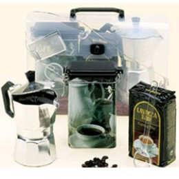European Gift 310C The Stovetop Coffee to go Gift Package w/ Coffee