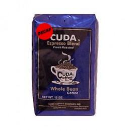 Cuda Coffee Decaf Espresso Blend Fresh Roasted Drip Ground Gourmet 1lb