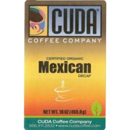 Cuda Coffee Certified Organic Mexican Decaffeinated 1lb