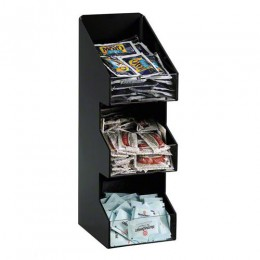 Dispense-Rite Lid & Condiment Organizer - 3 Section - Vertical