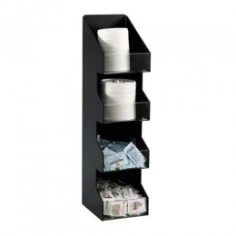 Dispense-Rite Lid & Condiment Organizer - 4 Section - Vertical