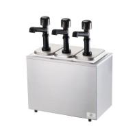 Server Insulated Bar w/ 3 Solution Pumps