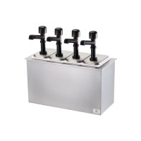 Server Drop-In Insulated Bar w/ 4 Solution Pumps
