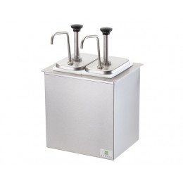Server Drop-In Insulated Bar w/ 2 Stainless Steel Pumps