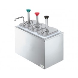 Server Drop-In Insulated Bar w/ 4 Stainless Steel Pumps