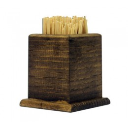 Tomlinson WTPH Wooden Toothpick Holder Walnut Finish 50/CS