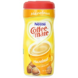 Coffee Mate Powder Creamer Canister Hazelnut, 15 oz ea. 12 Total