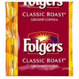 Folgers Classic Roast Vacket .9oz ea 4 Boxes of 42 Vackets/168 Total