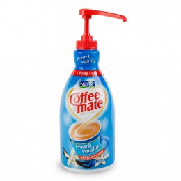 Coffee Mate French Vanilla Liquid Creamer Pump Bottle, 2 Bottles, 1.5L Each
