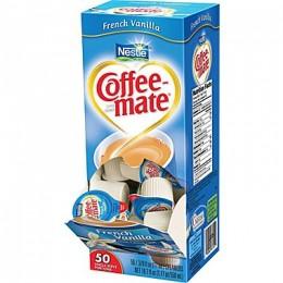 Coffee Mate French Vanilla Liquid Creamer .38oz ea 4box Creamers 200
